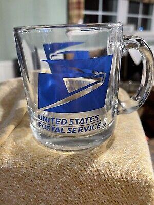 USPS Glass Coffee Mug United Postal Service. Made In The USA !!   B3
