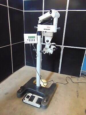 Leica M840 Eye Surgical Microscope With Foot Control - Passes Self Tests S3211