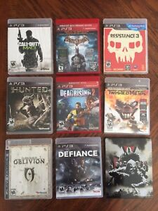 Lot de 21 jeux de PS3