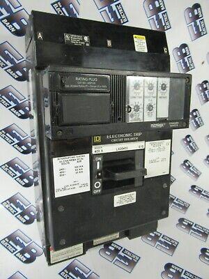 Square D Lx36400 400 Amp 600 Volt 3p Lsi Trip Breaker- Test Reportwarranty