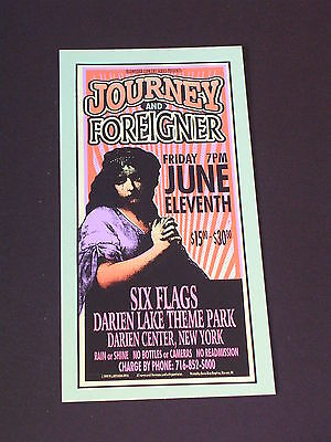 JOURNEY AND FOREIGNER Psychedelic Postcard by MARK ARMINSKI