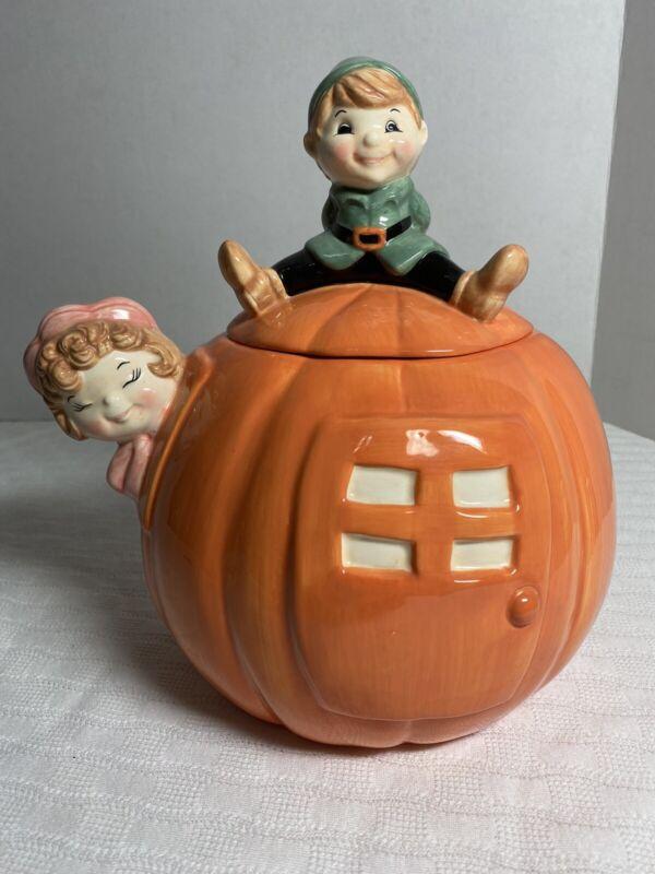 Treasure Craft Peter Peter Pumpkin Eater Ceramic Cookie Jar