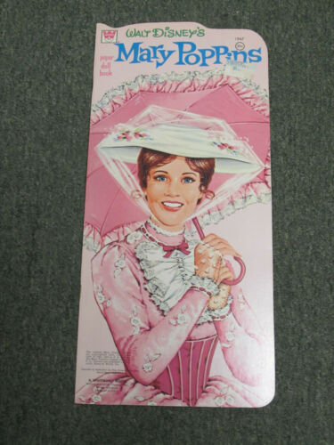 """MARY POPPINS"" 1973 WHITMAN UNCUT PAPER DOLLS VINTAGE  NICE SHAPE"