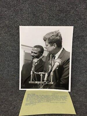 President John F. Kennedy & Oylvanus Clympio Of Togo Press Photo A2