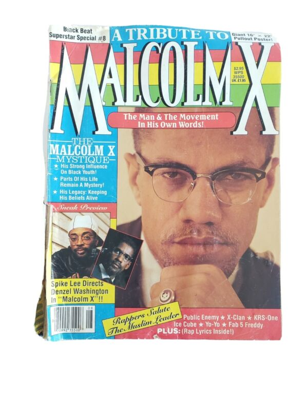 Black Beat Superstar Special Magazine #8 A Tribute to Malcolm X 1992