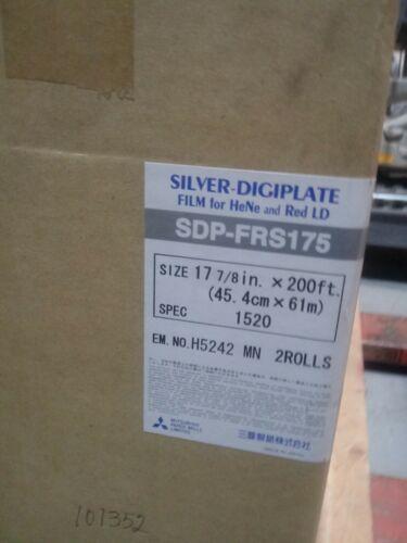 Mitsubishi Silver Digiplate Film SDP-FRS175 17 7/8in x 200ft spec 1520 2 rolls
