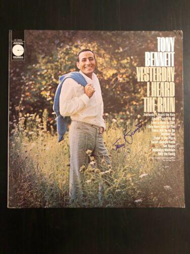 TONY BENNETT SIGNED AUTOGRAPH - VINYL ALBUM RECORD LP YESTERDAY I HEARD THE RAIN