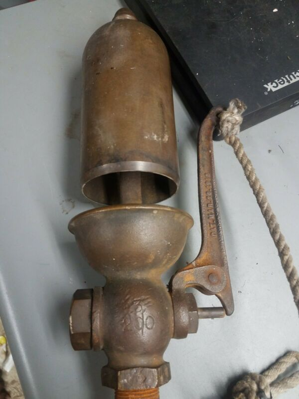 "Antique 3"" inches LUNKENHEIMER BRASS STEAMPUNK, LOCOMOTIVE, BOAT WHISTLE/BELL"