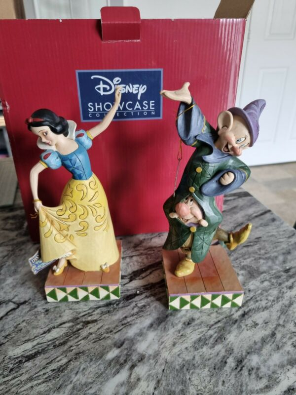 """Disney Traditions """"dancing partners"""" 4031494 snow white dopey RARE"""