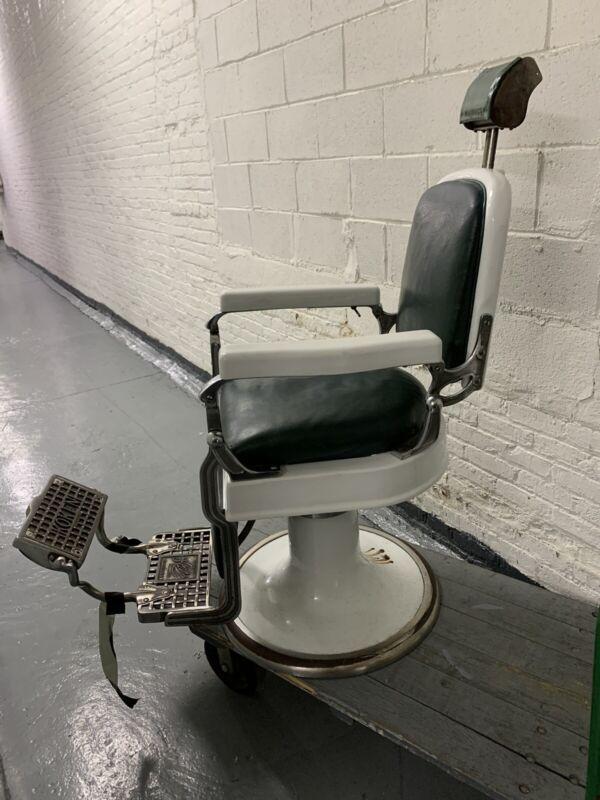 Vintage Koken Barber Chair (1930's) Full Functional
