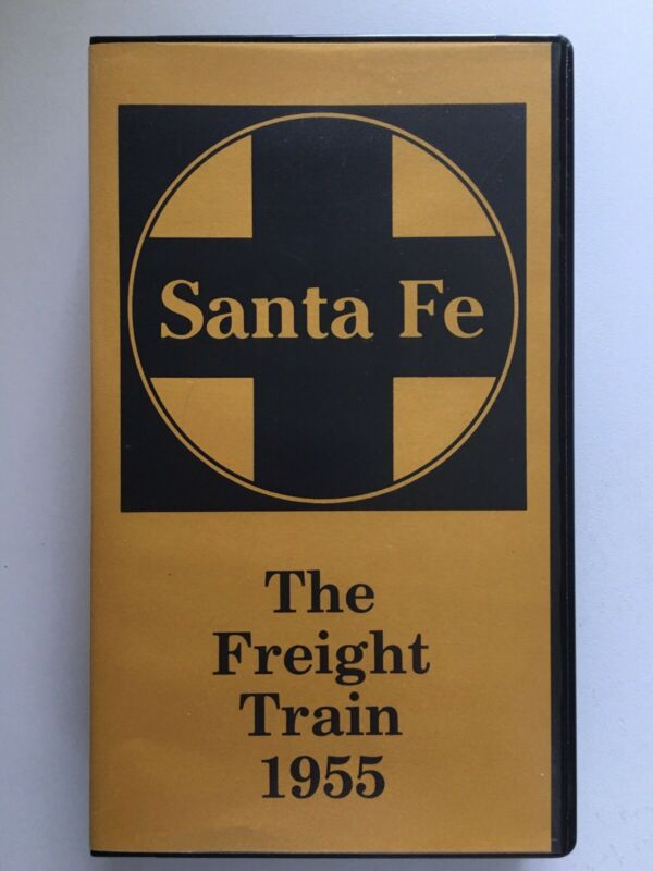 Santa Fe: The Freight Train 1955, VHS video, Britannica Films ~ vintage railroad