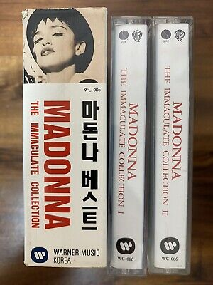 Madonna The Immaculate Collection + Flying Hits Series 8 Korea Cassette 1993