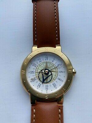 Seiko Levante Maritime Wind Rose Watch 24 Hr Vintage 1980s