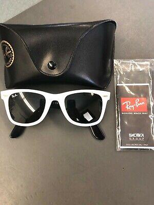 Women's RAYBAN Wayfarer White Classic Sunglasses L (White Rayban Sunglasses)