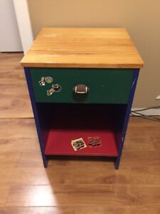 For Sale Child's Night Stand and Shelf