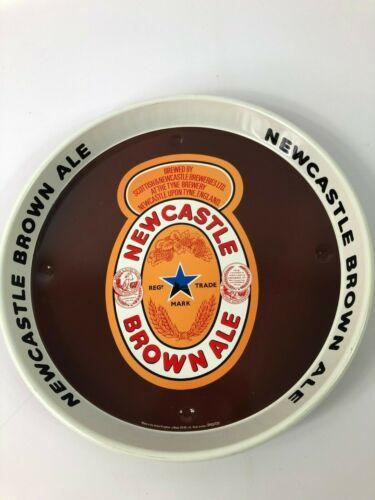 "Newcastle Brown Ale 12"" Round Metal Serving Advertising Beer Tray"