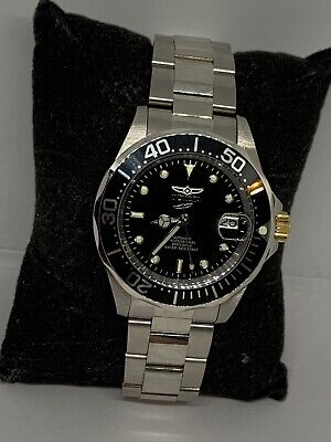 Invicta 8926 Men's Silver Stainless Steel Black Dial Automatic Wrist Watch LW17