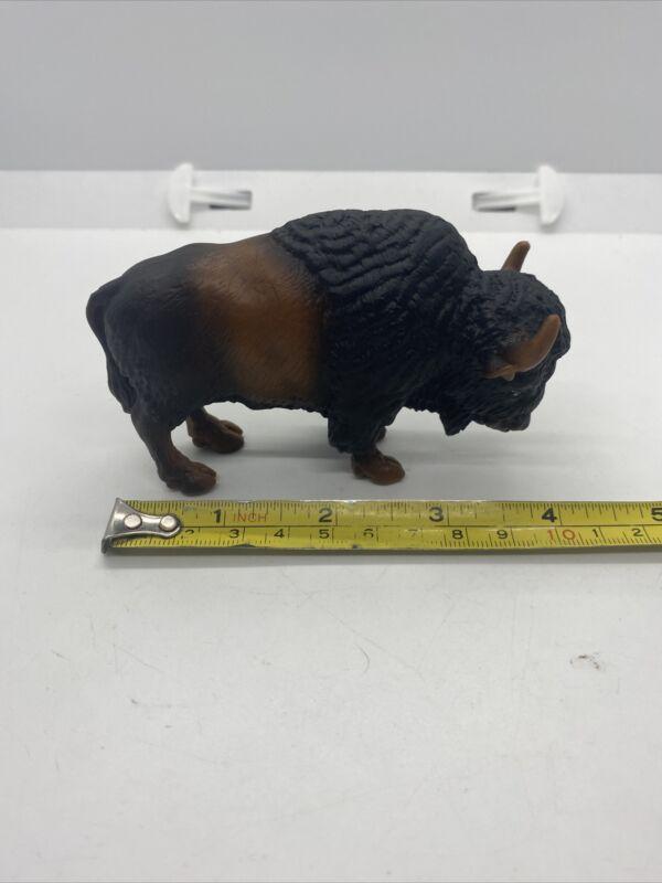 Schleich Brown American Buffalo Bison Animal Figurine Toy