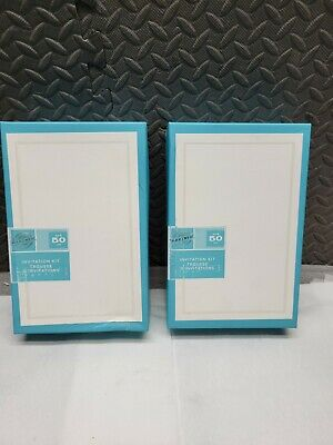 2-Gartner 61007 50 Count Wedding Invitation Print at Home Kit Pearl Ivory Border