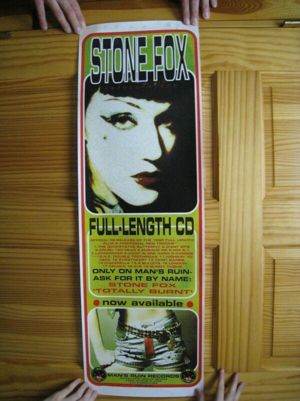 Stone Fox Poster Totally Burnt Face Shot Mans Ruin Records Frank Kozik