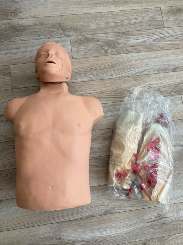 Simulaids Brad Manikin Nursing EMT CPR Training Overlay Skin Chest