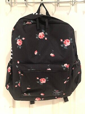 NWT Authentic Abercrombie Black Floral Backpack $49.95 Cute!