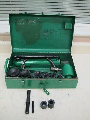 Greenlee 7306 12 - 2 Hydraulic Knockout Punch Driver Set Used Ships Free 3