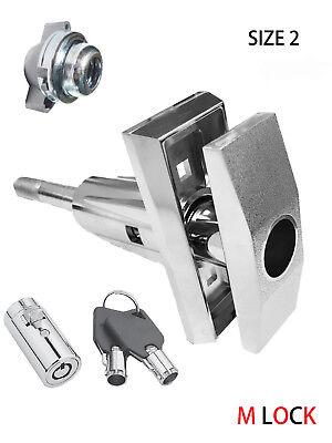 Lot Of 2 T Handle Vending Pop Up Tubular Lock Nut Triple Start Rod Size 2