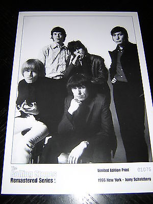 ROLLING STONES PROMOTIONAL LIMITED EDITION NUMBERED PRINT