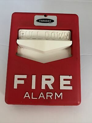 Vintage Faraday Fire Alarm Metal Pull Station Cat Figt  - Pre-owned