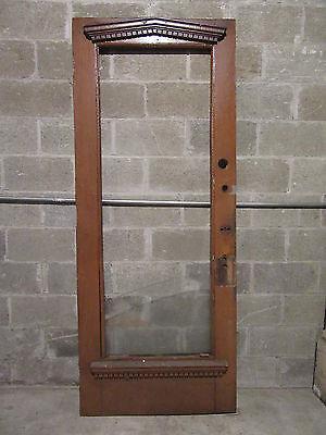 ~ DECORATIVE ANTIQUE DOOR ORNATE MOLDINGS 34 X 84 ~ ARCHITECTURAL SALVAGE ~