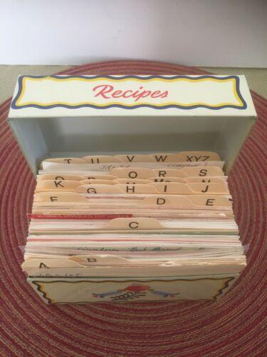 Vintage Ohio Art Tin Recipe Box~Full of Recipes!