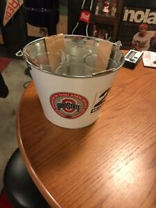 OHIO STATE BUCKEYES BUCKET AND FOUR GLASSES---COORS LIGHT