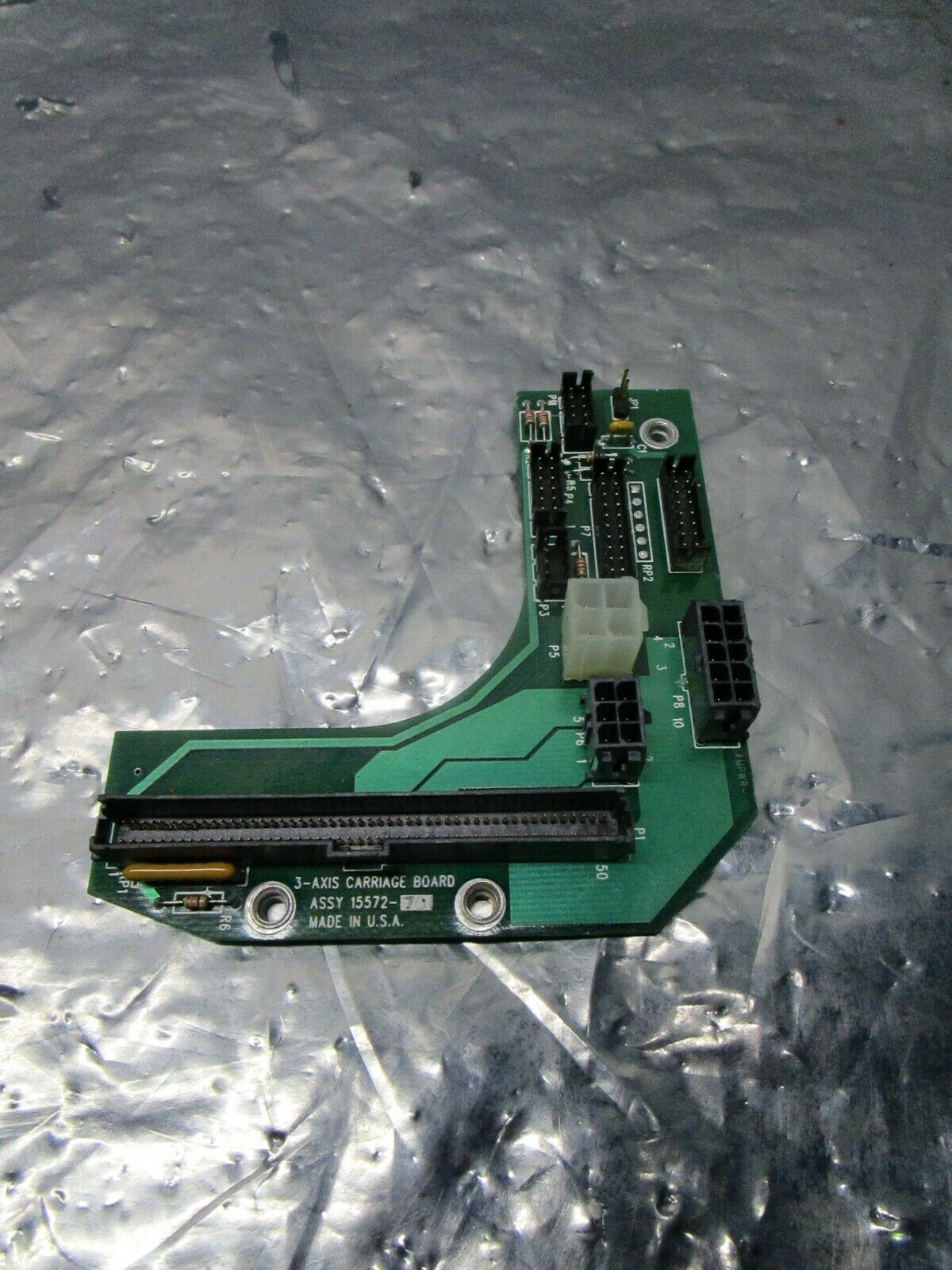 Asyst 15572-701 3-Axis Carriage Board, FAB 15571-001, 101186