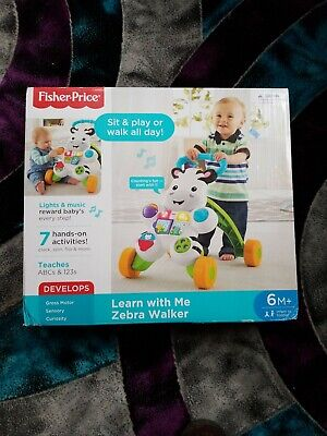 Fisher Price Learn with Me Zebra Walker Stand 6M  Sit Walk Play
