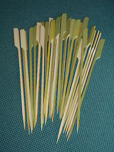 21cm wooden paddle skewers sticks ideal for canapes buffet for Canape sticks