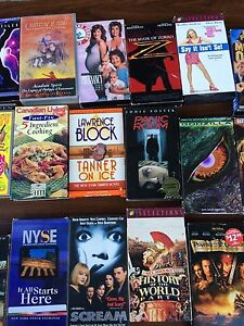 VHS movies $1 for 2