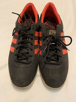 Adidas Malmo Trainers - Brown With Orange Trim - 7