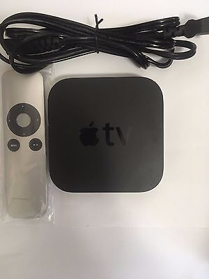 Apple Tv  3Rd Gen  Md199ll A  Digital Source Streamer With Generic Remote