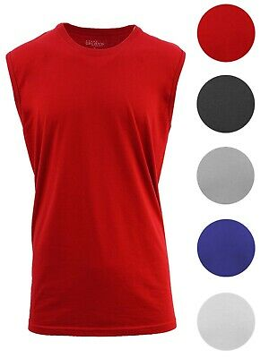 Mens Muscle Tank T-Shirt Mesh Colors Workout Fitness Lounge Running M-5XL NEW (Color Run Shirts)