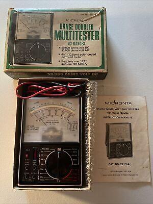 Micronta 50000 Ohmsvolt Multitester Wrange Doubler No.22-204u