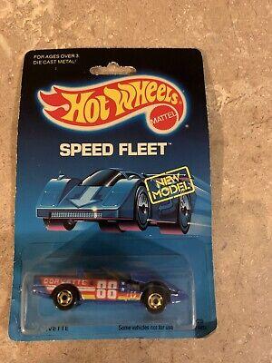 Vintage 1988 Hot Wheels Speed Fleet New Model '80's Corvette Diecast Car 3928
