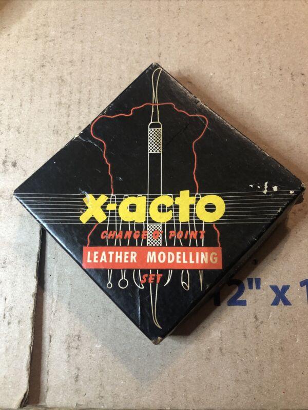 Vintage X-Acto Change O Point Leather Modelling Set #90