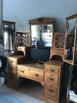 Large Antique Victorian Dressing Table