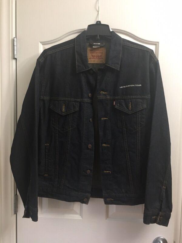 U2 Elevation Tour Levi's Red Tab Denim Jacket, Size Large, Pre-Owned