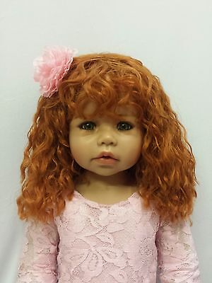 "Cassi Wig St Bl By Masterpiece Dolls(WIG ONLY-DOLL NOT INCLUDED) 18.5"" Head"