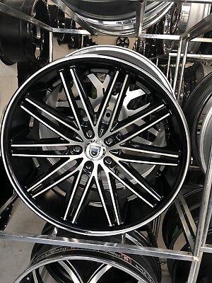 22 ASANTI ABL10 W TIRES FITS ALL 5 MERCEDES S550 BMW 750 AUDI LEXANI FORGIATO