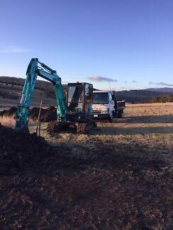 Excavator/Tipper truck hire