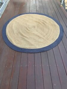 Natural fibre jute floor mat/rug