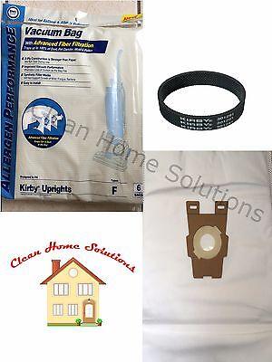 6 Universal Hepa Cloth Bags Kirby Vacuum F Style Avaliar Sentria And 1 FREE Belt ()